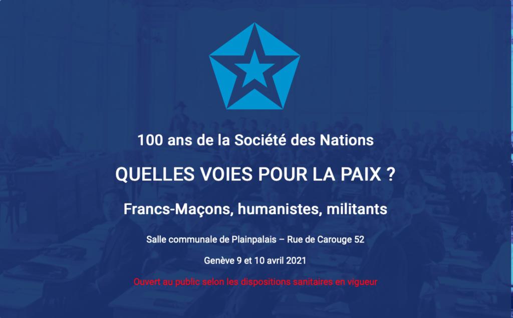 100ans de societe des nations unies